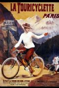 Vinatge French cycling poster  - La Touricyclette Paris